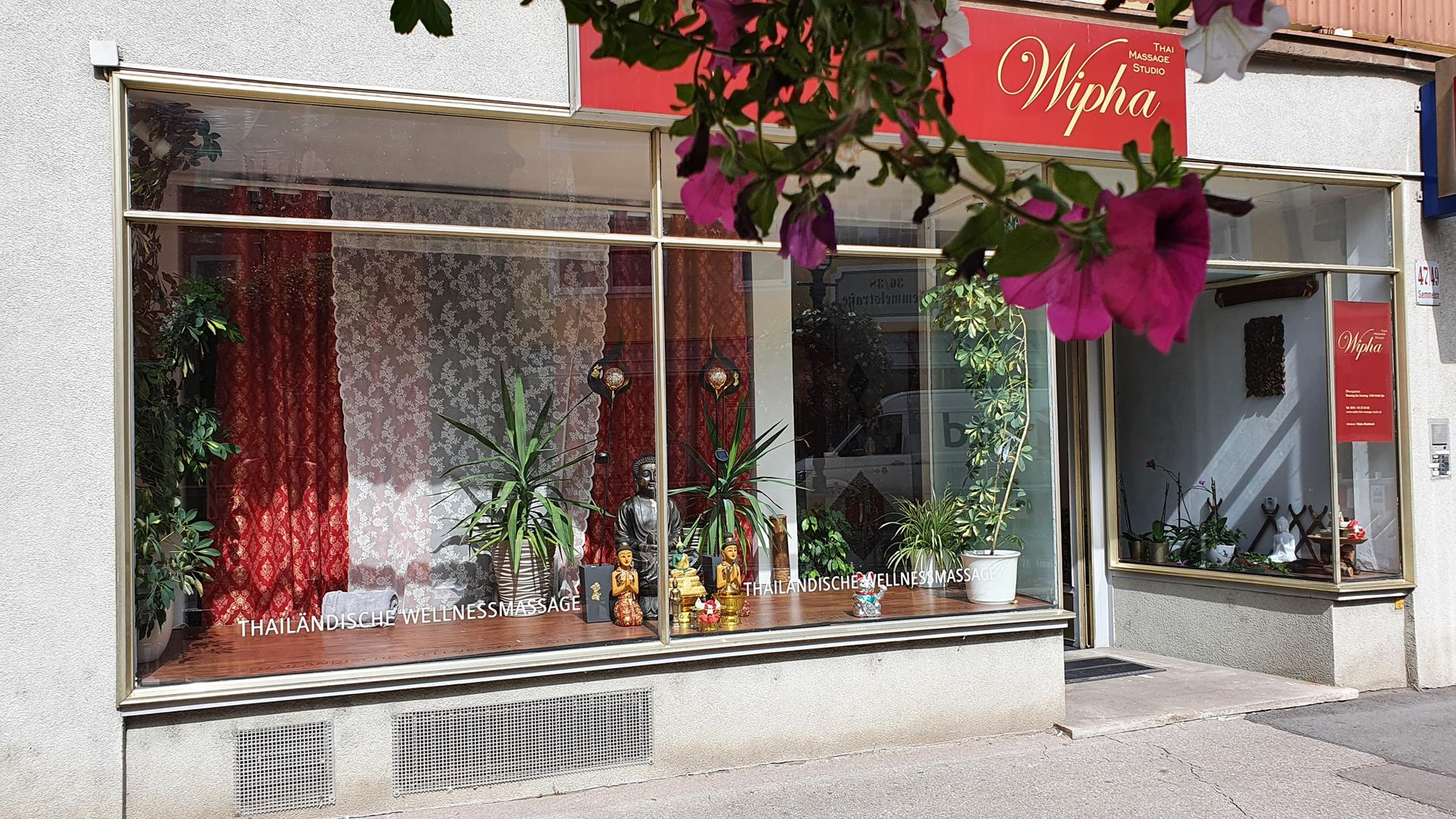Wipha Thai Massage Studio in der Würzburger Innenstadt, Semmelstr. 47-49, direkt am Bäckerbrunnen