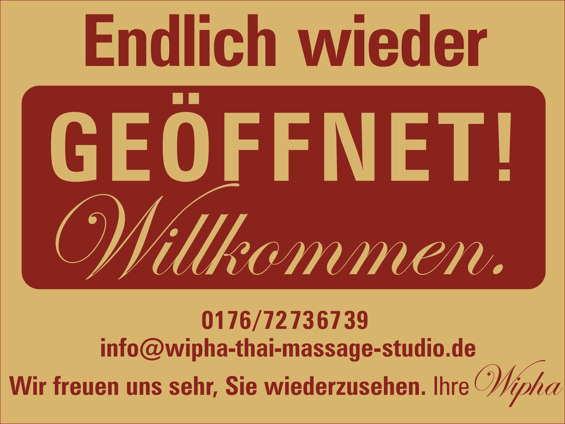 Wipha Thai Massage Studio, Würzburg Stadtmitte. Ab 11.05.2021 wieder geöffnet!